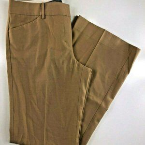 Express Editor Tan Full Leg Pants 6 DM15
